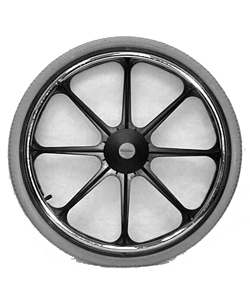 22 x 1 3/8 in. Mag Wheel With 8 Spokes - For 1/2 in. Axle