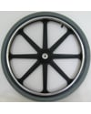 22 x 1 3/8 in. Mag Wheel With 8 Spokes and 2 in. Hub Width