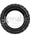 13 x 4.00-8 Primo Low Profile Pneumatic Scooter Tire - Front view shown