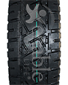 13 x 4.00-8 Primo Low Profile Pneumatic Scooter Tire - Tread view shown