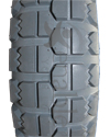 4.00-6 Knobby Foam Filled Wheelchair Tire - Tread pattern close-up