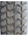 3.00-8 (14 x 3 in.) Primo Powertrax Foam Filled Wheelchair Tire - Tread pattern close-up