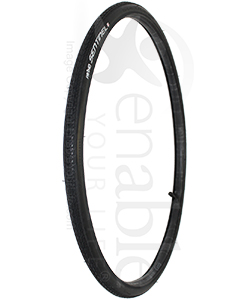25 x 1 in. (25-559) Primo Sentinel Wheelchair Tire with Flat Guard - Angled view shown