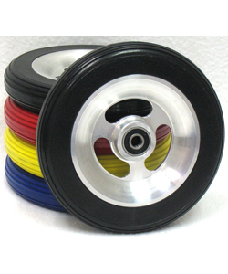 6 x 1 1/4 in. SHOX Aluminum Wheelchair Caster Wheel