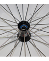 25 in. (559) Spinergy 30 Spoke Aluminum Wheelchair Wheel and Tire - Close-up view of the hub shown