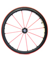 24 in. (540) Spinergy 12 Spoke Light Extreme Rear Wheels - Shown with red spokes