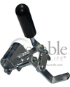 E&J Style Wheelchair Wheel Lock With Push to Lock Handle - Close-up view shown
