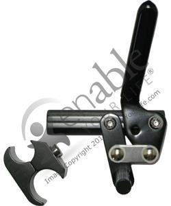 Black Aluminum Wheelchair Wheel Lock With Clamp