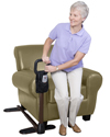 Standers Couch Cane with Organizer - in use