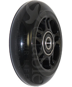 3 x 1 in. One Piece Wheelchair Caster Wheel - Angled view shown