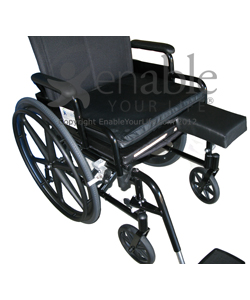 Aftermarket Group Wheelchair Slide Out Amputee Support - Shown installed on a manual wheelchair