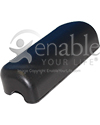 Invacare Wheelchair Desk Length Waterfall Urethane Armrest Pad - Angled view shown