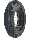 8 x 1 3/4 in. (200-44) 2 Rib Urethane Wheelchair Tire - Angled view shown