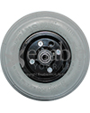 "8 x 2 in. Wheelchair Caster Wheel with 7/16"" Bearings & Foam Filled Tire - Front view shown"