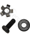 10 x 3 in (3.00-4) Drive Wheel Assembly for the Pronto Wheelchair - Supplied hardware shown