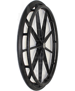 24 in. 9 Spoke Wheelchair Mag Wheel with 2 3/16 in. Hub and Tire - Angled view shown