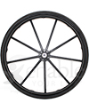 24 in. 9 Spoke Wheelchair Mag Wheel with 2 3/16 in. Hub and Tire