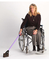 ArcMate Lightweight Rainbow Reacher - shown in use with a wheelchair