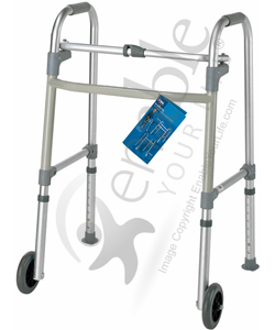 Carex® Single Button Walker with 5 in. Wheels and 300 lbs Capacity