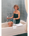 Carex® Portable Bathtub Shower Bench - Shown in use (handrail not included)