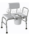 Carex® Deluxe Vinyl Padded Transfer Bench with Cut Out & 300lb Cap.
