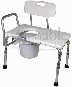 Carex® Bathtub Transfer Bench with Opening, Bucket, & 300lb Capacity