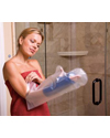 Carex® EZ Stretch Arm Cast Cover & Bandage Protector - Shown in use