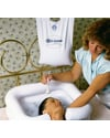 EZ-SHAMPOO® Inflatable Shampoo Basin - Shown in use with optional EZ-SHOWER® Bedside Shower System