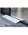 EZ Access® Transitions™ Modular Wheelchair or Scooter Entry Ramp  - THRESH 1.5 shown on each side of the doorway