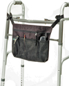EZ Access® EZ-Accessories® Universal Tote - Large - Shown on walker, works great on wheelchairs too!