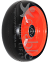 Frog Legs EPIC Soft Roll Aluminum Wheelchair Caster - 4 x 1.4 in model shown in Orange Powder Coat