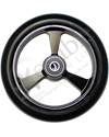 5 x 1 in. EPIC Aluminum Narrow Court Wheelchair Caster Wheel - Close-up of black hub