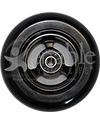 4 x 1.4 in. Frog Legs EPIC Double Soft Aluminum Wheelchair Caster - Black hub with black tire shown