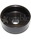 Frog Shield Black Anodized Dust Cap for Frog Legs Caster - Underside view shown