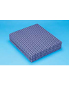 Hermell Foam Wheelchair Cushion with Navy Rip-Stop Zip Cover 16x16 in.