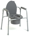 Invacare® All-In-One Aluminum Commode with 350 lb capacity