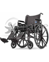 Invacare® 9000 XDT Custom Lightweight Wheelchair - Angled view shown with optional accessories