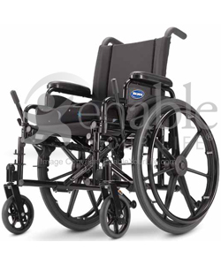 Invacare® 9000 Jymni™ Pediatric Wheelchair - Angled view shown with Matrix seat cushion