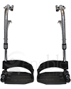 "Invacare Swing Away Footrest Assembly with Heel Loop and 3 1/8"" Pin Spacing - pr"