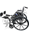Invacare Elevating Legrest Assembly with Padded Calf Pad - Shown mounted on a Tracer EX2