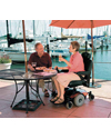 Invacare® Pronto® M41™ Power Wheelchair with Office Style Seat - Shown in use