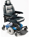 Invacare® Pronto® M41™ Power Wheelchair with Office Style Seat - Shown with blue shroud