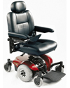 Invacare® Pronto® M41™ Power Wheelchair with Office Style Seat - Shown with red shroud