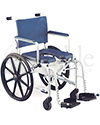 Invacare® Mariner Rehab Shower Wheelchair with Commode - Angled view shown