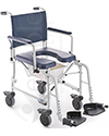 Invacare® Mariner Rehab Shower Transport Chair with Commode - angled view shown