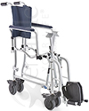Invacare® Mariner Rehab Shower Transport Chair with Commode - folded view shown
