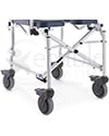 "Invacare® Mariner Rehab Shower Transport Chair with Commode - close of view of 5"" wheels"