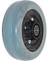 6 x 2 in. Invacare Wheelchair Replacement Caster Wheel - Angled view shown in light gray