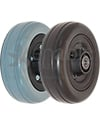6 x 2 in. Invacare Wheelchair Replacement Caster Wheel - Angled view shown