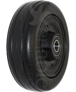 6 x 2 in. Invacare Wheelchair Replacement Caster Wheel with Offset Bearings in Black